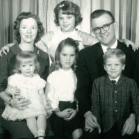 The Buntain family - Robyn top center